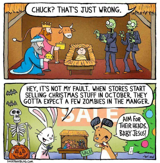 zombies in the manger